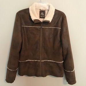 Prana Esme Faux Suede Leather Sherpa Jacket XL
